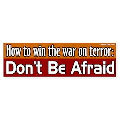 Win the War on Terror Bumper Bumper Sticker