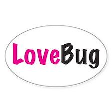 LoveBug Oval Decal