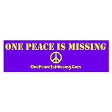 One Peace Is Missing Car Sticker