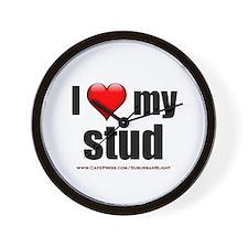 """""""Love My Stud"""" Wall Clock"""