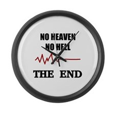 NO HEAVEN NO HELL Large Wall Clock