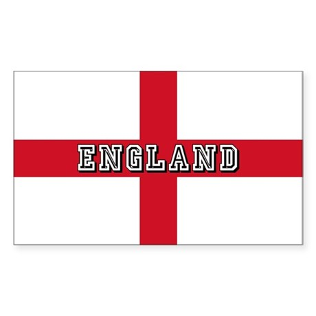 England Logo Flag Sticker Rectangle By Culturegraphics