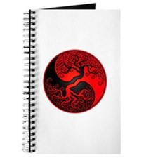 Red And Black Yin Yang Tree Journal