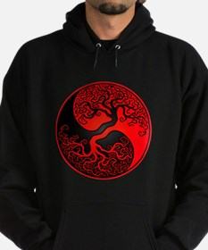 Red and Black Yin Yang Tree Hoody