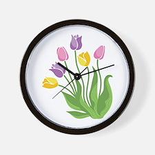 Tulips Plant Wall Clock