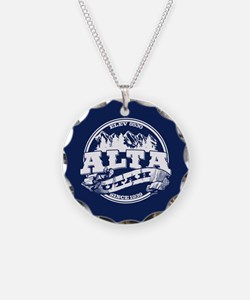 Alta Old Circle Blue Necklace