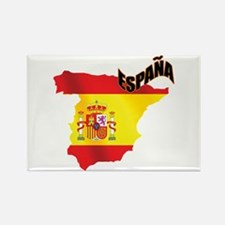 Flag Map of Spain Rectangle Magnet