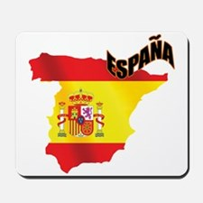 Flag Map of Spain Mousepad