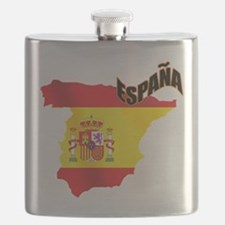Flag Map of Spain Flask