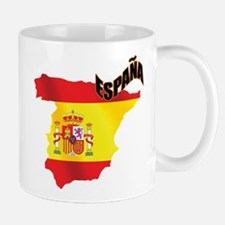Flag Map of Spain Small Small Mug