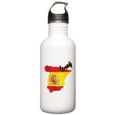 Flag Map of Spain Water Bottle