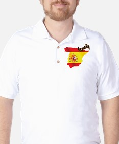 Flag Map of Spain T-Shirt
