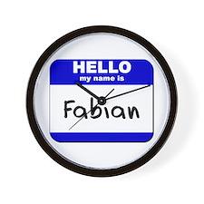 hello my name is fabian  Wall Clock