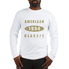 1934 American Classic (Gold) Long Sleeve T-Shirt