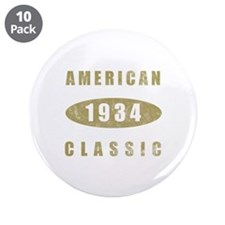 "1934 American Classic (Gold) 3.5"" Button (10 pack)"