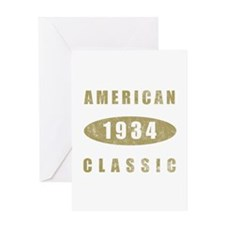 1934 American Classic (Gold) Greeting Card