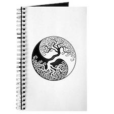 White And Black Yin Yang Tree Journal
