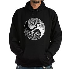 White and Black Yin Yang Tree Hoody