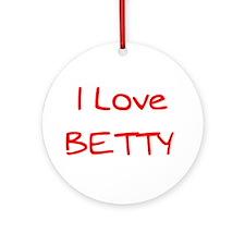 Love Betty Ornament (Round)
