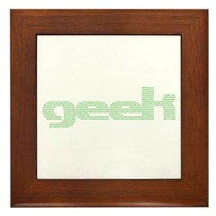 Binary Geek Framed Tile