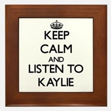 Keep Calm and listen to Kaylie Framed Tile