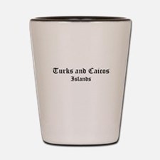 Turks and Caicos Islands Shot Glass