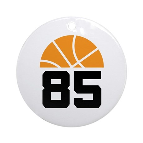 Basketball Number 85 Player Gift Ornament (Round)