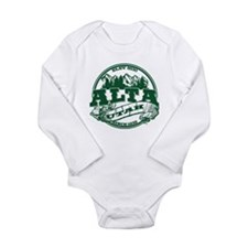 Alta Old Circle Green Long Sleeve Infant Bodysuit
