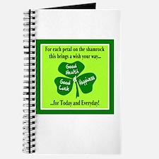 Each Petal On The Shamrock-Irish Toast Journal