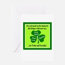 Each Petal On The Shamrock-Irish Toast Greeting Ca