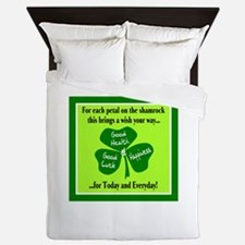 Each Petal On The Shamrock-Irish Toast Queen Duvet