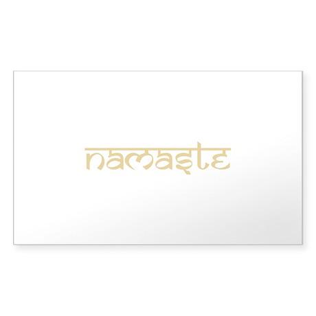 Namaste Yoga Ohm Sticker (Rectangle)