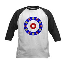 Curling Rocks Around the Clock Baseball Jersey