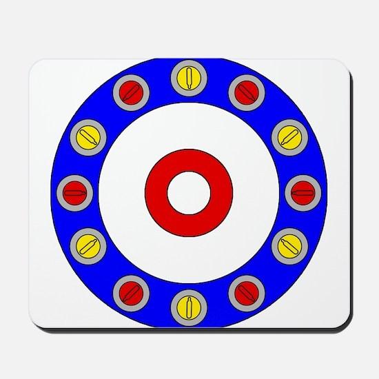 Curling Rocks Around the Clock Mousepad