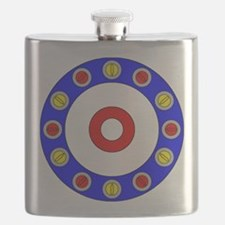 Curling Rocks Around the Clock Flask
