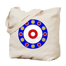 Curling Rocks Around the Clock Tote Bag