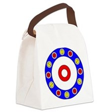 Curling Rocks Around the Clock Canvas Lunch Bag