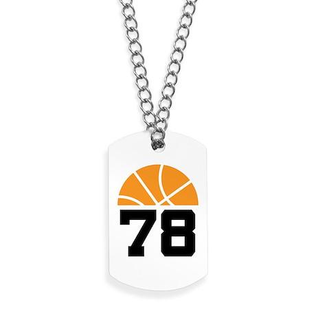 Basketball Number 78 Player Gift Dog Tags