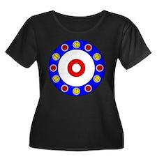 Curling Rocks Around the Clock Plus Size T-Shirt
