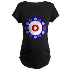 Curling Rocks Around the Clock Maternity T-Shirt