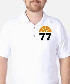 Basketball Number 77 Player Gift T-Shirt