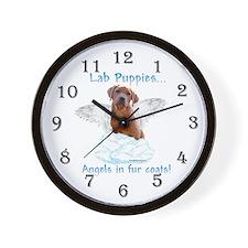 Lab Puppy Angel Wall Clock