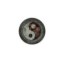 Steampunk Yin Yang Mini Button