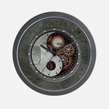 Steampunk Yin Yang Wall Clock