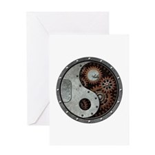 Steampunk Yin Yang Greeting Cards