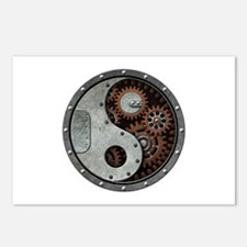 Steampunk Yin Yang Postcards (Package Of 8)