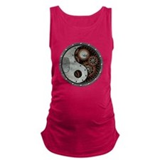 Steampunk Yin Yang Maternity Tank Top