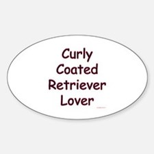 Curly Lover Oval Decal