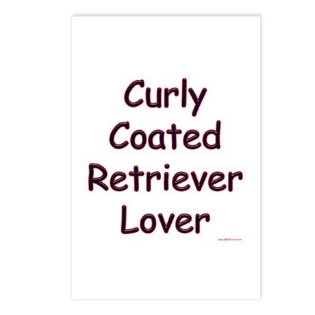 Curly Lover Postcards (Package of 8)