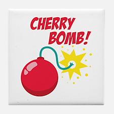 Cherry Bomb Tile Coaster